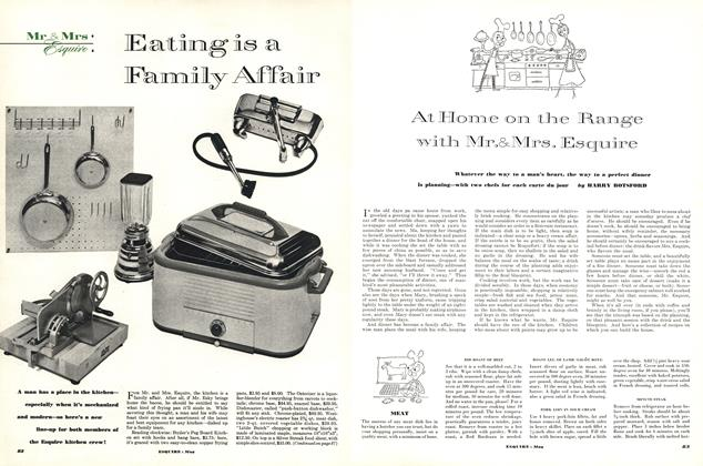 Article Preview: At Home on the Range with Mr. & Mrs. Esquire, May 1952 | Esquire