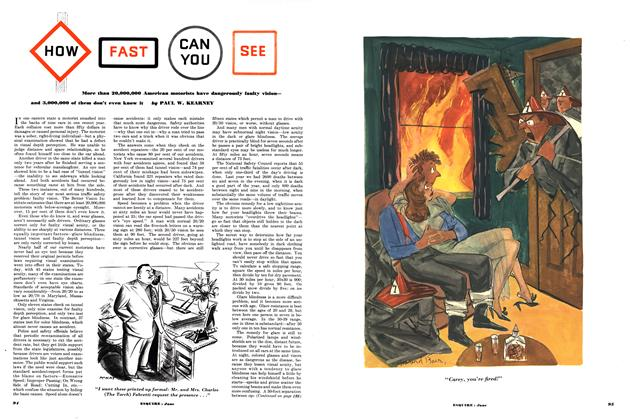 Article Preview: How Fast Can You See, JUNE, 1952 1952   Esquire
