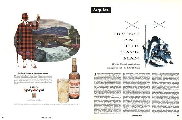 Article Preview: Irving and the Cave Man, JULY, 1952 1952 | Esquire