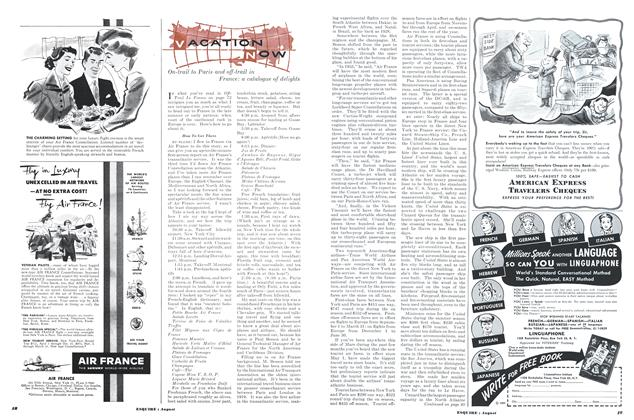 Article Preview: Vacation Now, AUGUST, 1952 1952 | Esquire