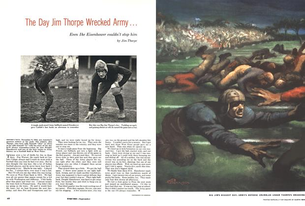 Article Preview: The Day Jim Thorpe Wrecked Army..., SEPTEMBER, 1952 1952 | Esquire