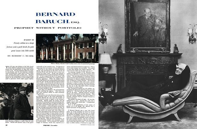Bernard Baruch, Esq. Prophet without Portfolio
