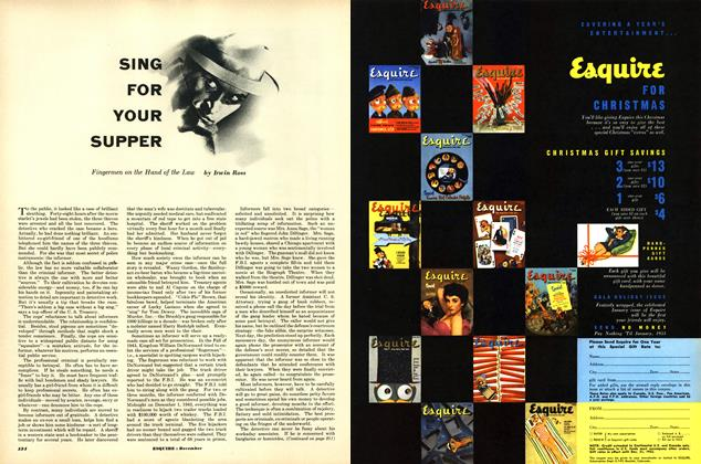 Article Preview: Sin for Your Supper, DECEMBER, 1952 1952 | Esquire