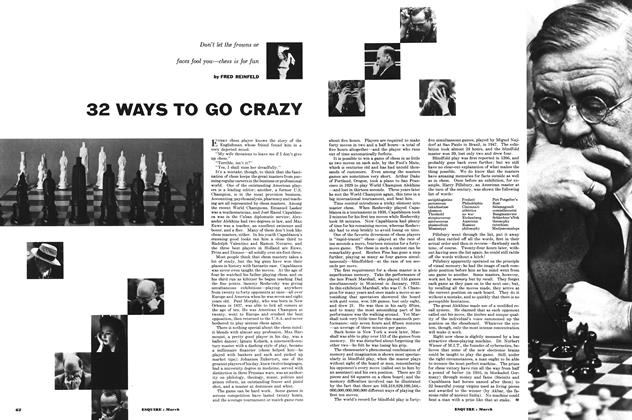 Article Preview: 32 Ways to Go Crazy, MARCH, 1953 1953 | Esquire