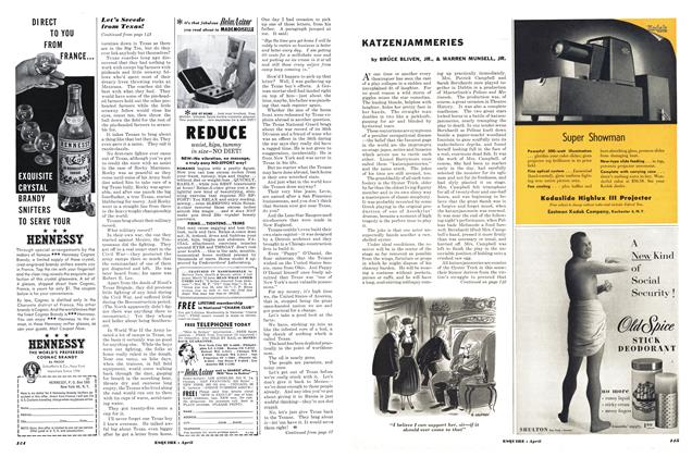 Article Preview: Katzenjammeries, APRIL, 1953 1953 | Esquire