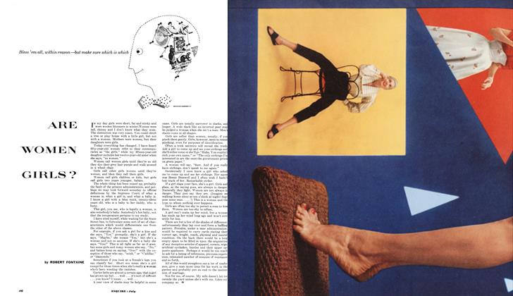 Article Preview: ARE WOMEN GIRLS ?, JULY, 1953 1953 | Esquire