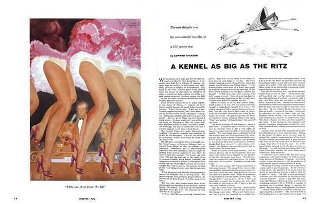 Article Preview: A Kennel as Big as the Ritz, July 1953   Esquire