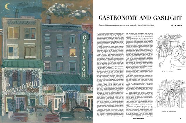 Article Preview: Gastronomy and Gaslight, AUGUST, 1953 1953 | Esquire