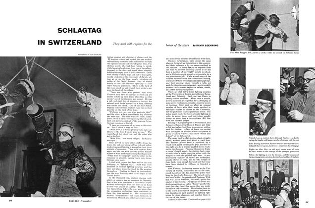 Article Preview: SCHLAGTAG IN SWITZERLAND, NOVEMBER, 1953 1953 | Esquire