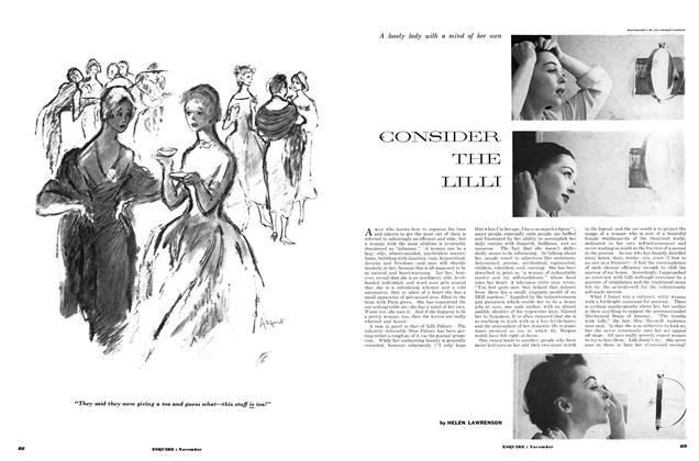 Article Preview: Consider the Lilli, November 1953 | Esquire