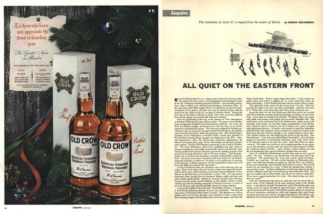 Article Preview: All Quiet on the Eastern Front, JANUARY, 1954 1954 | Esquire