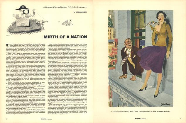 Article Preview: MIRTH OF A NATION, JANUARY, 1954 1954 | Esquire