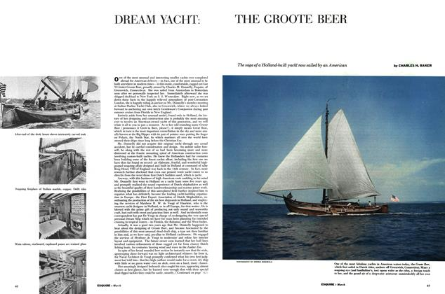Article Preview: Dream Yacht: the Groote Beer, MARCH, 1954 1954 | Esquire