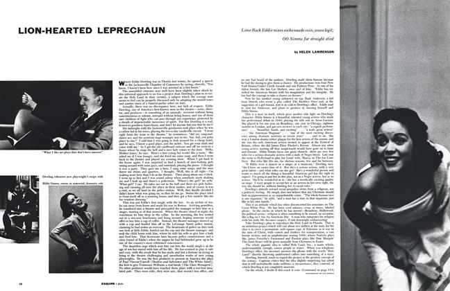 Article Preview: Lion-hearted Leprechaun, July 1954 | Esquire