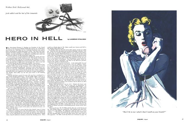 Article Preview: Hero in Hell, AUGUST,1954 1954 | Esquire