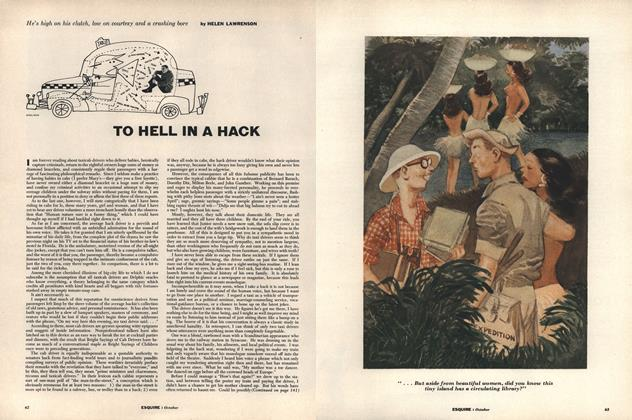 Article Preview: To Hell in a Hack, October 1954 | Esquire