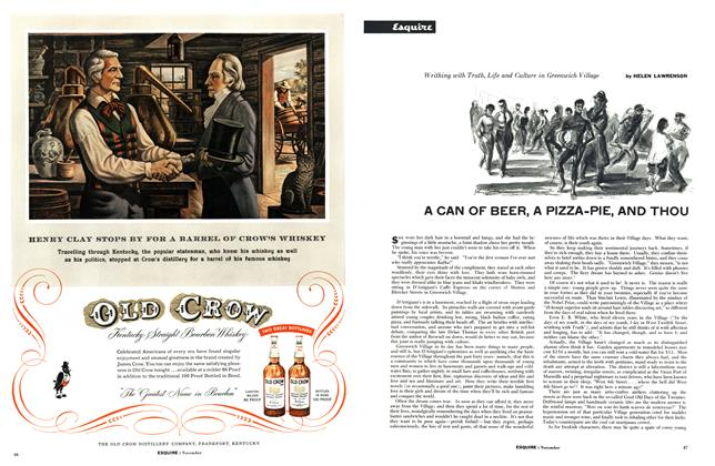 Article Preview: A Can of Beer, a Pizza-Pie, and Thou, November 1954 | Esquire