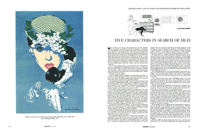 Article Preview: Five Characters in Search of Hi-Fi, NOVEMBER, 1954 1954   Esquire