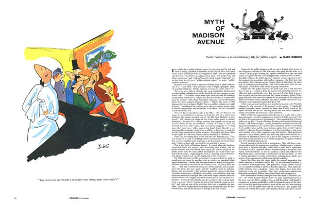 Article Preview: Myth of Madison Avenue, NOVEMBER, 1954 1954   Esquire