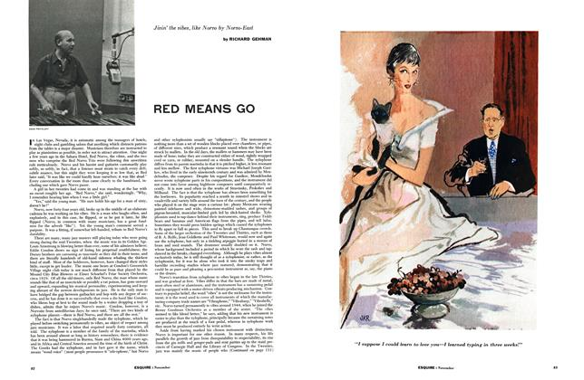 Article Preview: Red Means Go, NOVEMBER, 1954 1954   Esquire