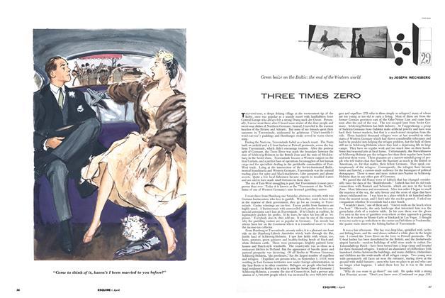 Article Preview: Three Times Zero, APRIL, 1955 1955 | Esquire