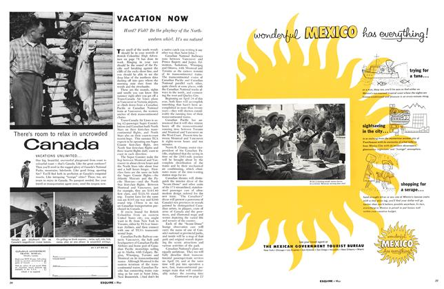 Article Preview: Vacation Now, MAY, 1955 1955 | Esquire