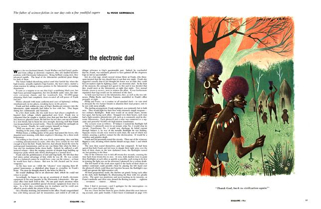 Article Preview: The Electronic Duel, MAY, 1955 1955 | Esquire