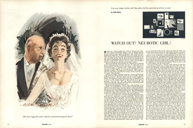 Article Preview: Watch Out! Neurotic Girl!, JUNE, 1955 1955 | Esquire