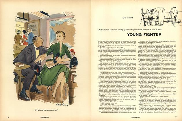 Article Preview: Young Fighter, JULY, 1955 1955   Esquire