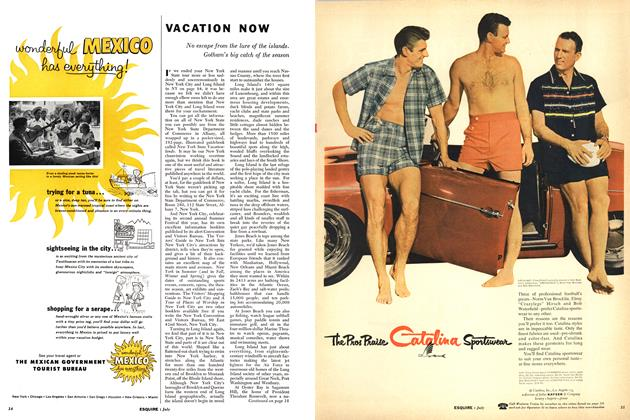 Article Preview: VACATION NOW, JULY, 1955 1955 | Esquire