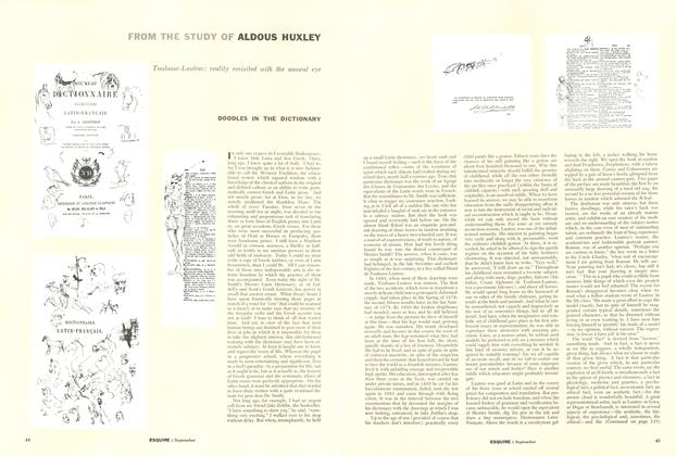 Article Preview: Doodles in the Dictionary, September 1955 | Esquire