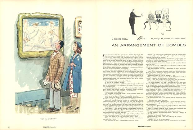 Article Preview: An Arrangement of Bombes, SEPTEMBER 1955 1955 | Esquire
