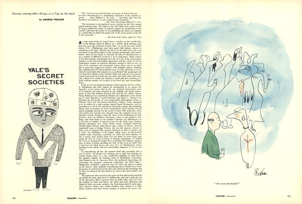 Article Preview: Yale's Secret Societies, September 1955 | Esquire