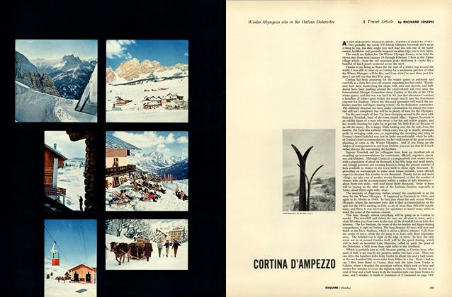 Article Preview: Cortina D'ampezzo, OCTOBER, 1955 1955 | Esquire