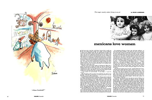 Article Preview: Mexicans Love Women, November 1955 | Esquire