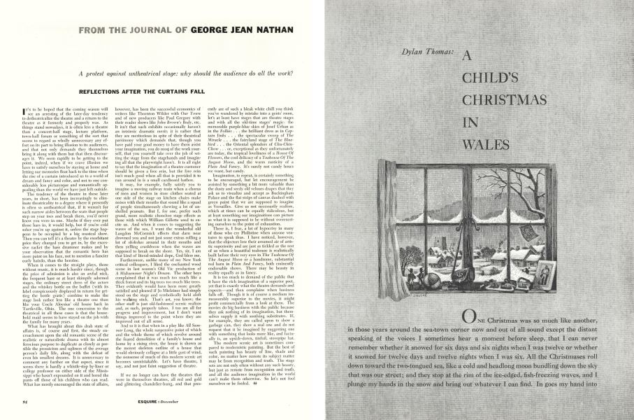 A Childs Christmas In Wales.A Child S Christmas In Wales Esquire December 1955