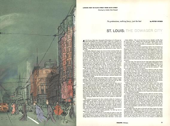 Article Preview: St. Louis: The Dowager City, February 1956 | Esquire