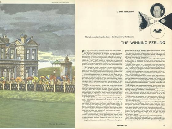 Article Preview: The Winning Feeling, APRIL, 1956 1956 | Esquire