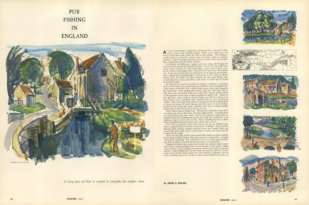 Article Preview: Pub Fishing in England, APRIL, 1956 1956 | Esquire