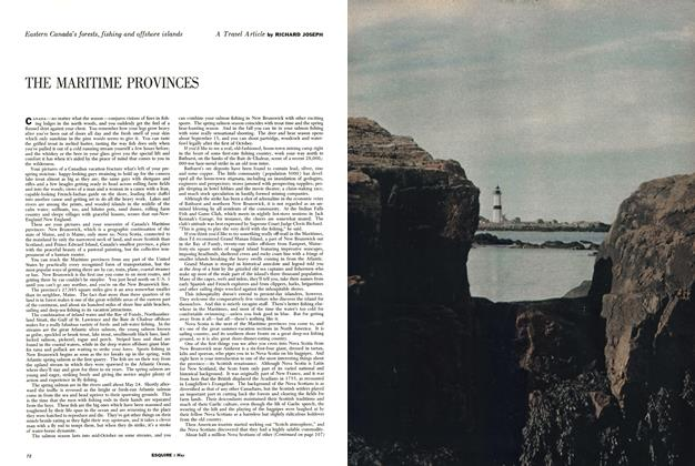 Article Preview: THE MARITIME PROVINCES, MAY, 1956 1956 | Esquire