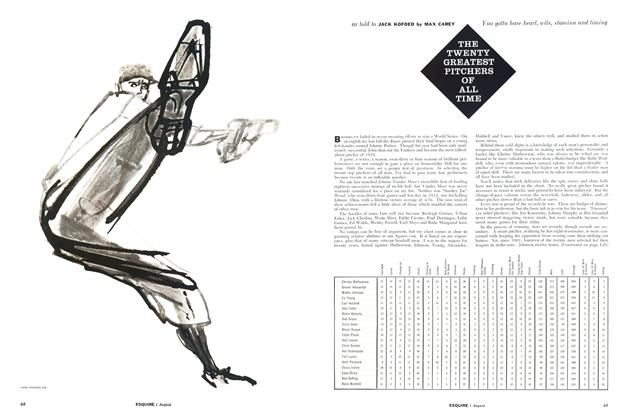 Article Preview: The Twenty Greatest Pitchers of All Time, AUGUST, 1956 1956 | Esquire