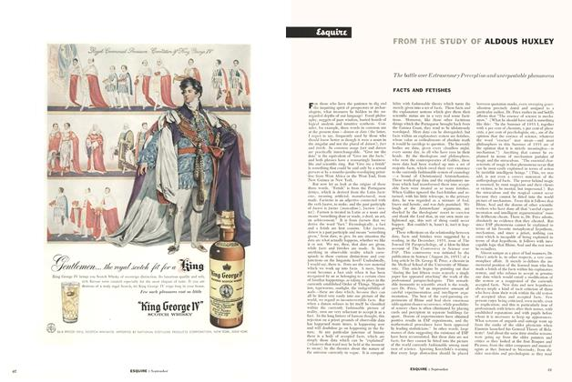 Article Preview: Facts and Fetishes, September 1956 | Esquire