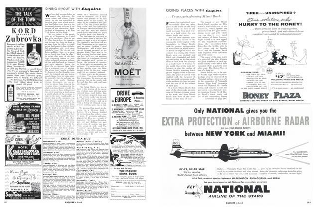 Article Preview: Going Places with Esquire, MARCH, 1957 1957 | Esquire