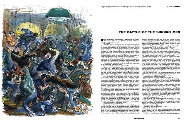Article Preview: THE BATTLE OF THE SLINGING MEN, APRIL, 1957 1957 | Esquire
