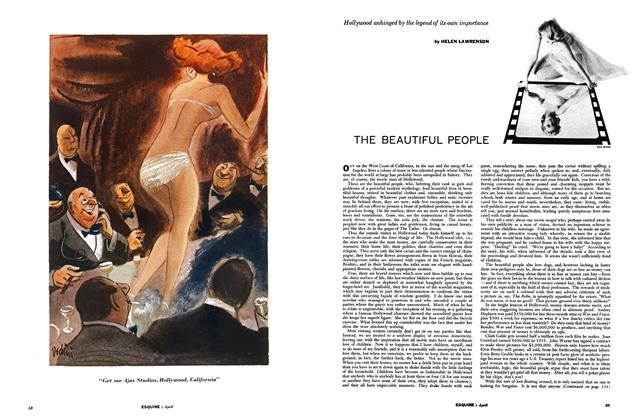 Article Preview: THE BEAUTIFUL PEOPLE, April 1957 | Esquire
