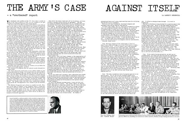 The Army's Case Against Itself