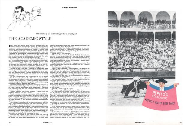 Article Preview: The Academic Style, June 1957 | Esquire