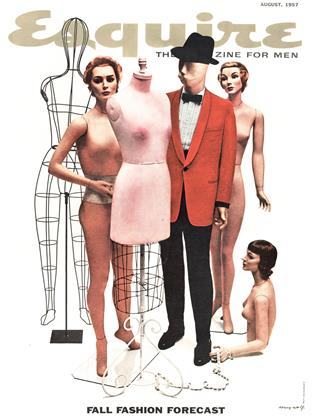 Cover for the August 1957 issue