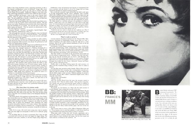 Article Preview: BB:FRANCE'S MM, SEPTEMBER, 1957 1957 | Esquire