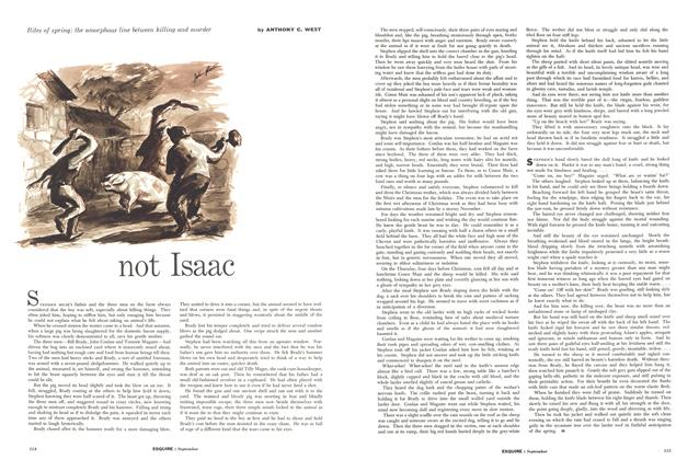 Article Preview: Not Isaac, SEPTEMBER, 1957 1957 | Esquire